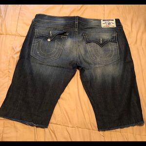 True Religion Shorts - True Religion jeans cut off shorts